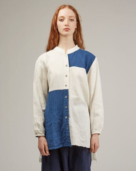 Sabine Shirt in Indigo patchwork