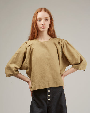 Claude top in moss
