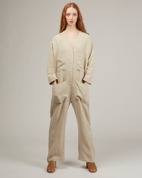Tuck coverall in oat