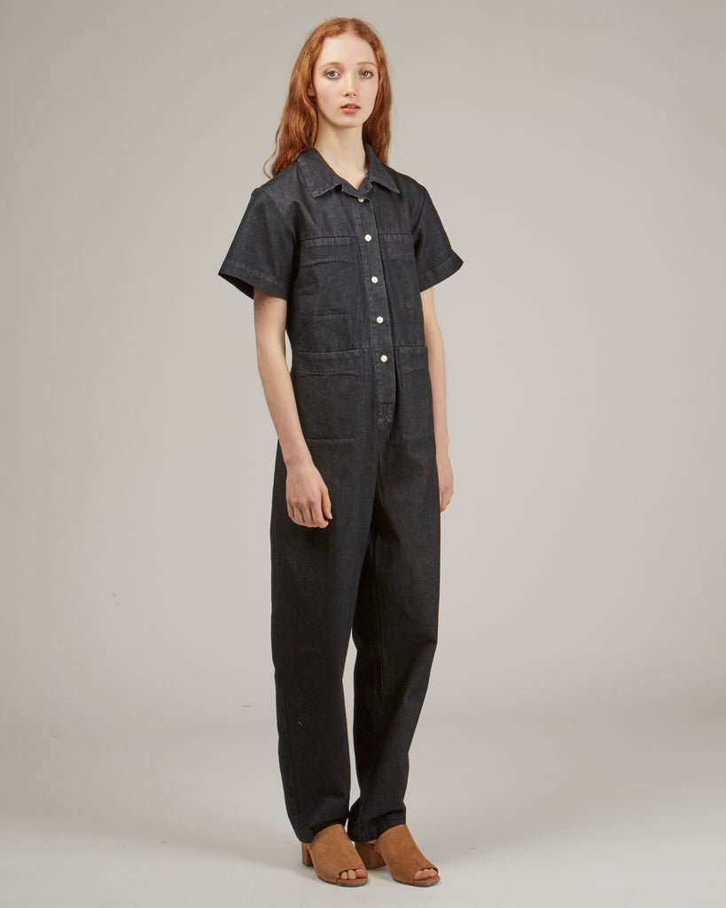 Tia coverall in dark denim