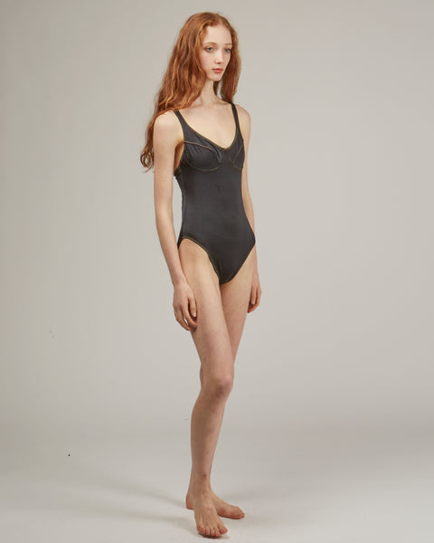 Como swimsuit in black