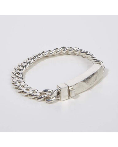 Chain bracelet with molded clasp in silver