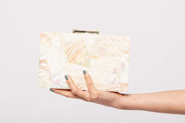 Abstract geometry abalone clutch