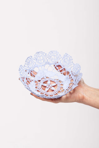 Mauve medium lace bowl