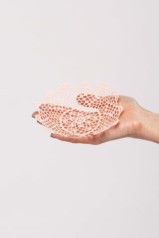 Light pink lace bowl