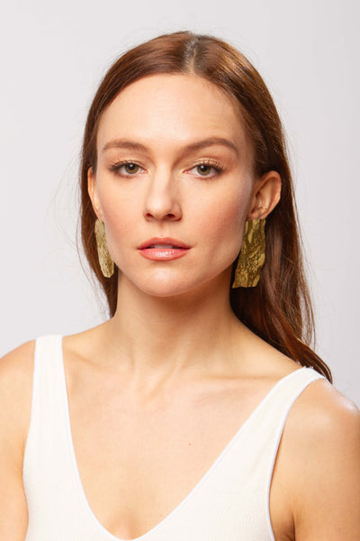 Calanc earrings in gold