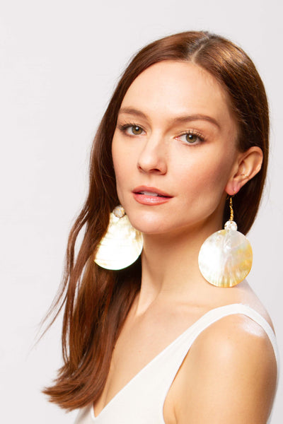 Buwan pearl earrings