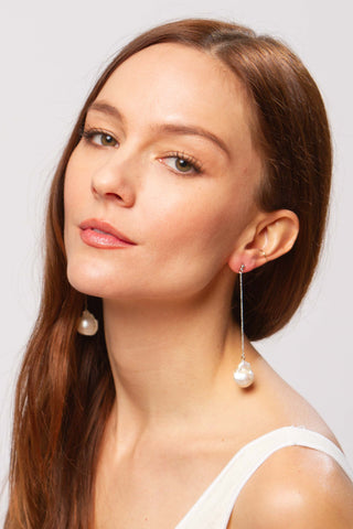 Tali white pearl earrings