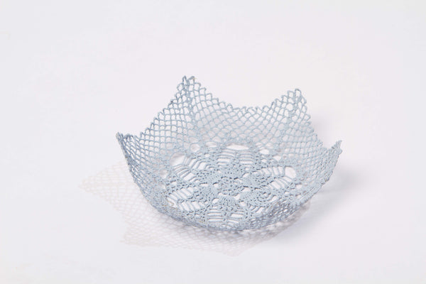 sky blue large lace bowl