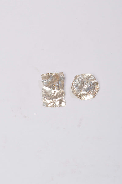 Small calanc earrings in silver