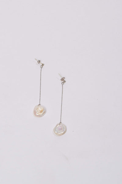 Linya white pearl earrings