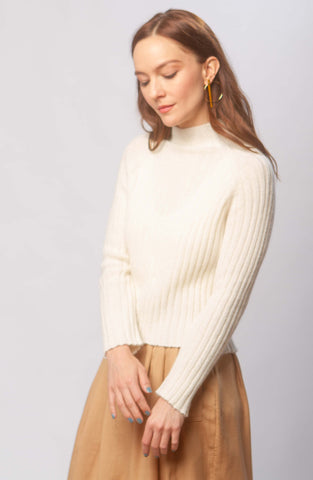 Isa alpaca rib knit top