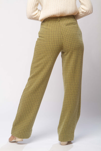 Castelbuono wool pants in green check