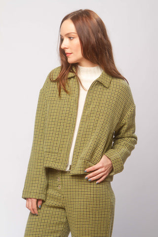 Montehermoso wool jacket in green check