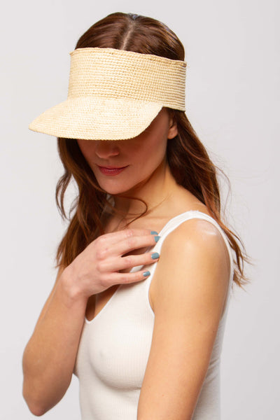 Copacabana visor hat in natural