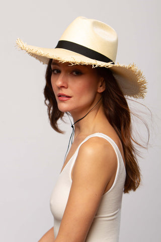 Montauk fedora hat in natural