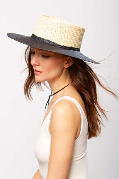 Solana hat in natural & black