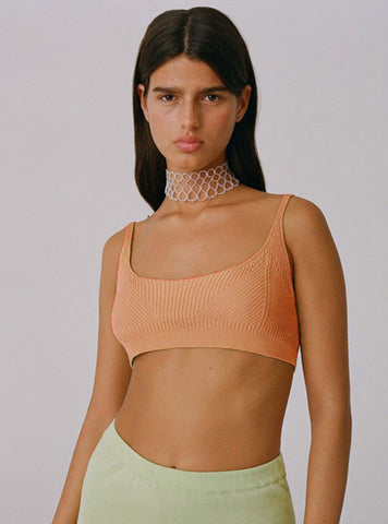 Waloma knit bra top