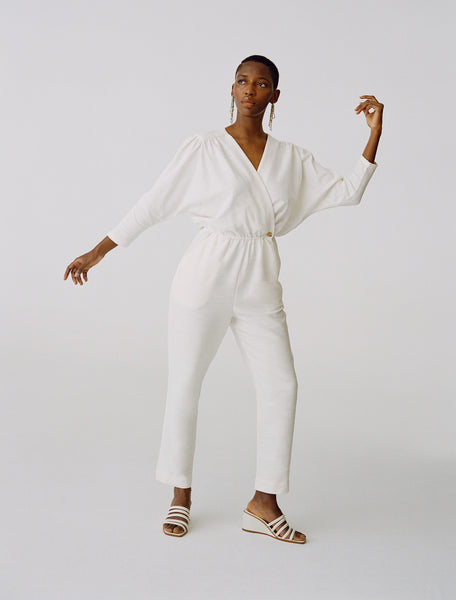 Alexandria jumpsuit in off-white