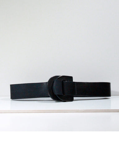 DD black leather belt