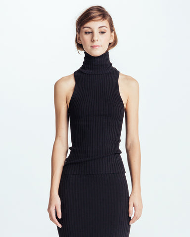Nonna sleeveless turtleneck in Black - Founders & Followers - Giu Giu - 1