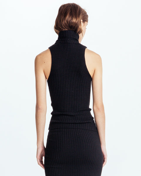 Nonna sleeveless turtleneck in Black - Founders & Followers - Giu Giu - 3