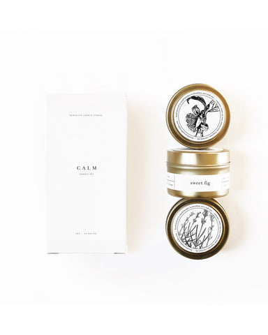 Calm gold travel candle set - Founders & Followers - Brooklyn Candle Studio - 1