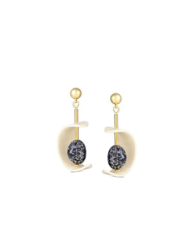 C mobile earrings in black