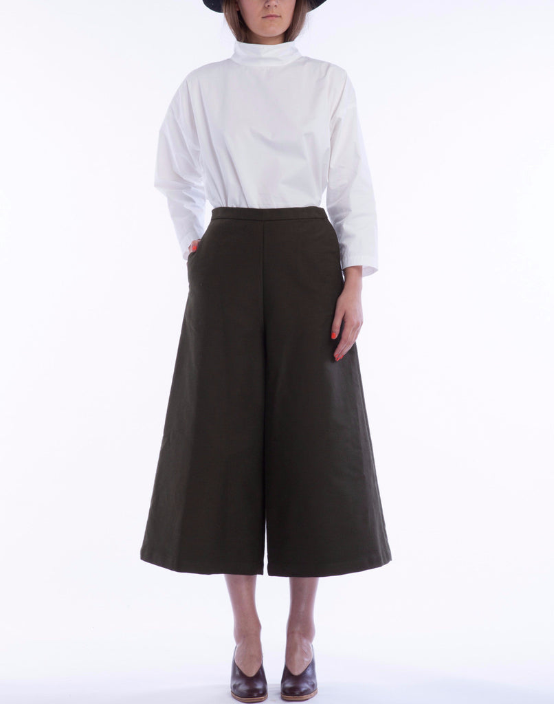 Limber Pant in Moss - Founders & Followers - Rachel Comey - 1