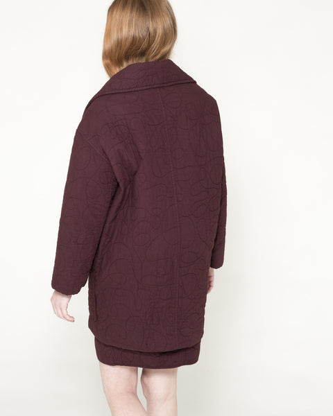 Quilted Levin Coat in Raisin - Founders & Followers - Caron Callahan - 4