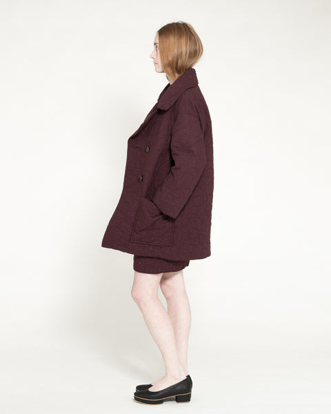 Quilted Levin Coat in Raisin - Founders & Followers - Caron Callahan - 5