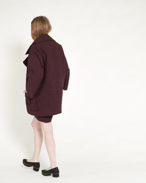 Quilted Levin Coat in Raisin - Founders & Followers - Caron Callahan - 6