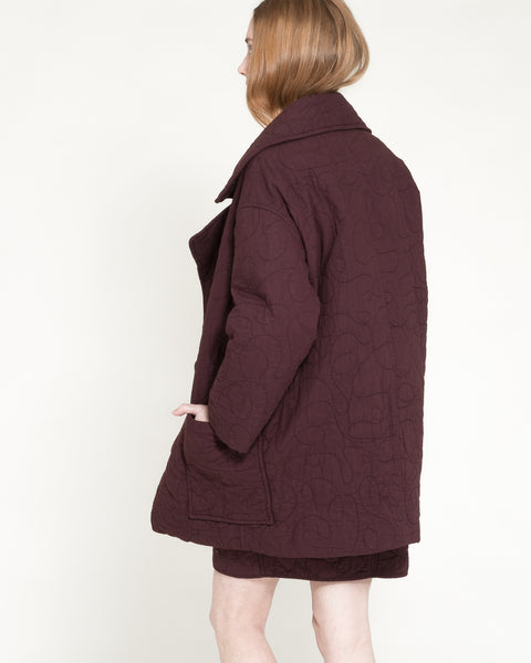 Quilted Levin Coat in Raisin - Founders & Followers - Caron Callahan - 2