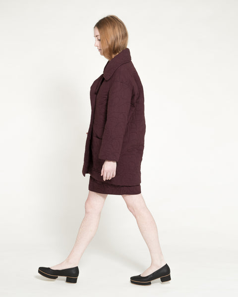 Quilted Levin Coat in Raisin - Founders & Followers - Caron Callahan - 7