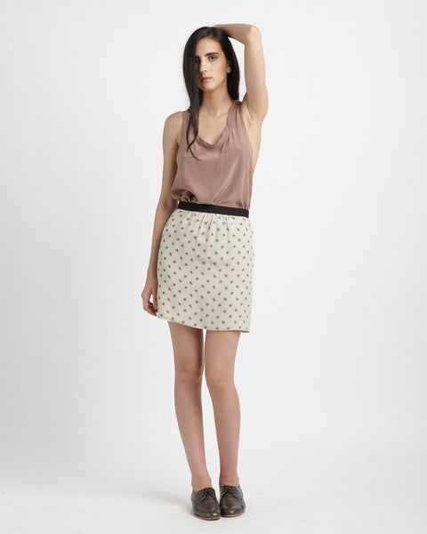 Maruki Skirt in beige - Founders & Followers - Caron Callahan - 2