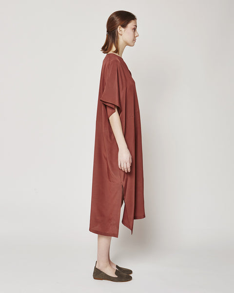 Silk dress in Marsala
