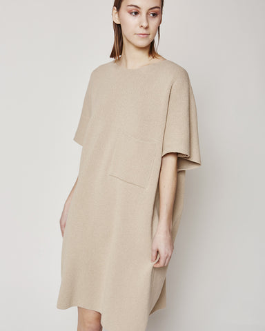 Milano knit dress in sand