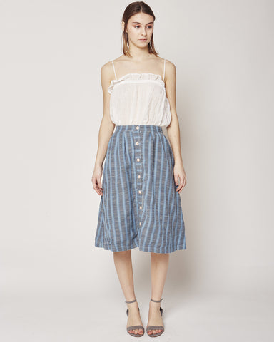 Carver skirt in Stonewash