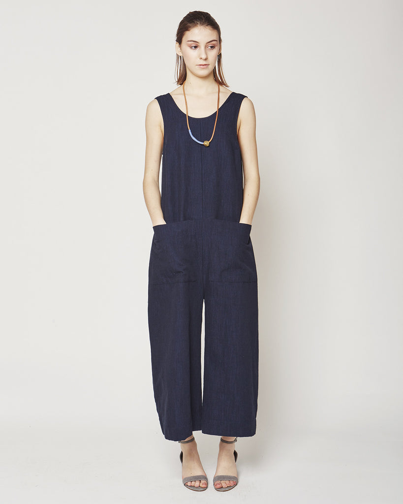 Milo Jumpsuit in Indigo