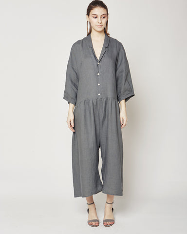 Steven Jumpsuit in graphite linen