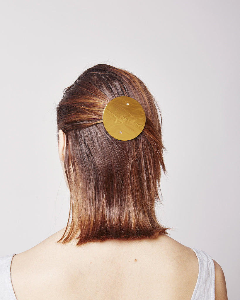 Large hairclip HC06 XL in shiny gold