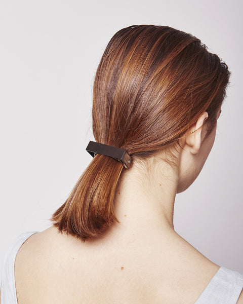 Barrette 041 in black silver