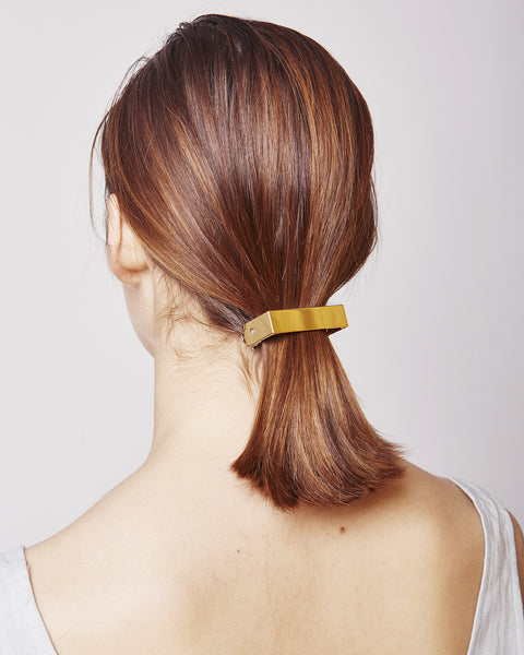 Barrette 041 in shiny gold