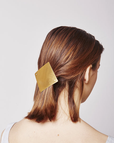Barrette lozenge 084 in matte gold