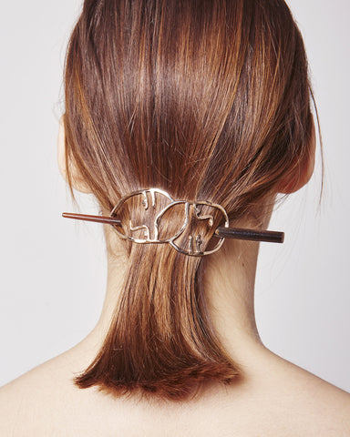 Amistad Hair Pin in bronze