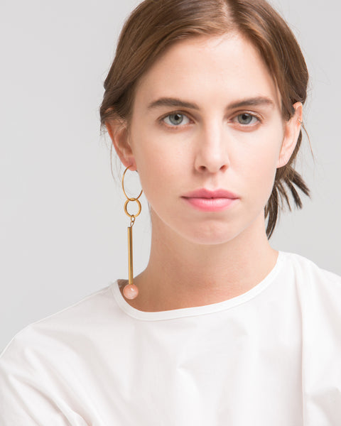 Elensio earring in pink - Founders & Followers - Rue - 3
