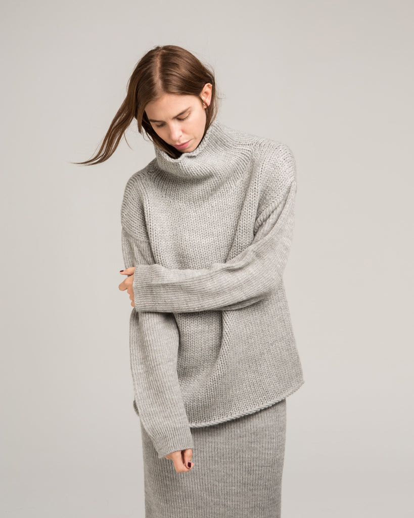 Funnel Neck Alpaca Sweater - Founders & Followers - Micaela Greg - 1
