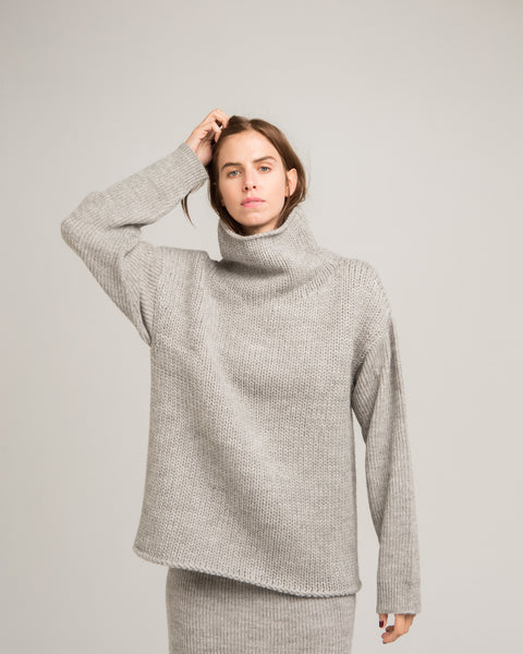 Funnel Neck Alpaca Sweater - Founders & Followers - Micaela Greg - 2