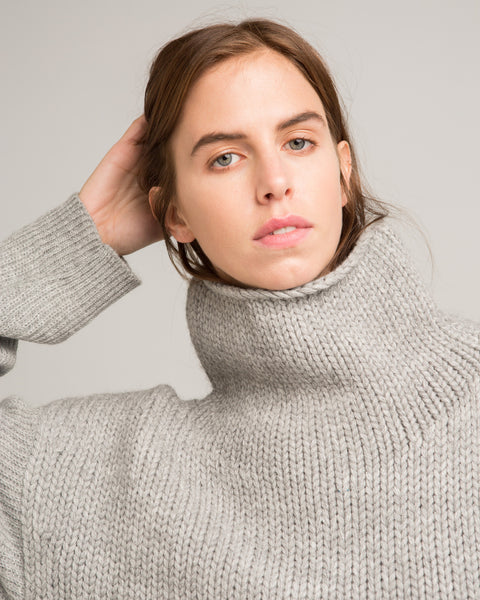 Funnel Neck Alpaca Sweater - Founders & Followers - Micaela Greg - 5