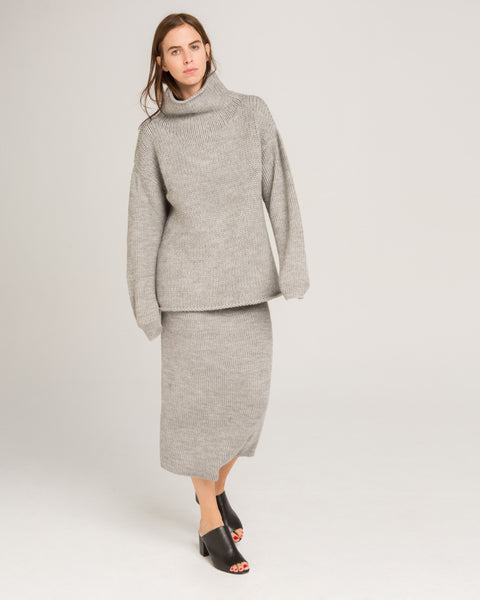 Funnel Neck Alpaca Sweater - Founders & Followers - Micaela Greg - 6
